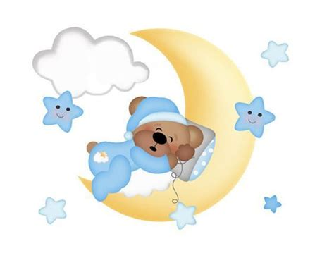 Cloud Stickers For Walls teddy bear mural wall art decals moon star cloud by