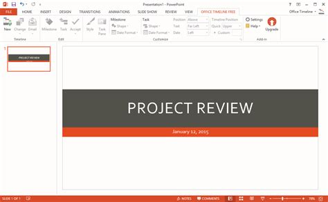 powerpoint review templates office timeline gantt chart template collection