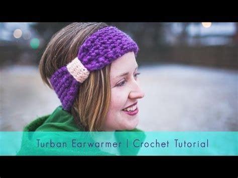 turban bow tutorial turban earwarmer crocheting tutorial youtube hooked