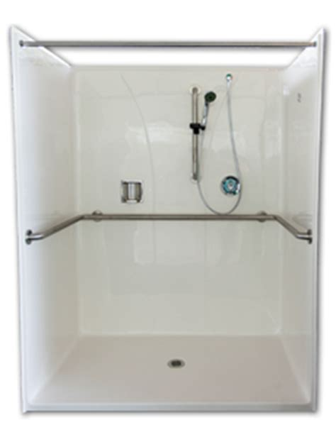 Florestone Terrazzo Shower Pan by Florestone Institutional Special Needs Ada Compliant