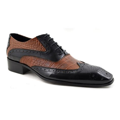two tone mens shoes buy mens black brown two tone oxford brogues gucinari