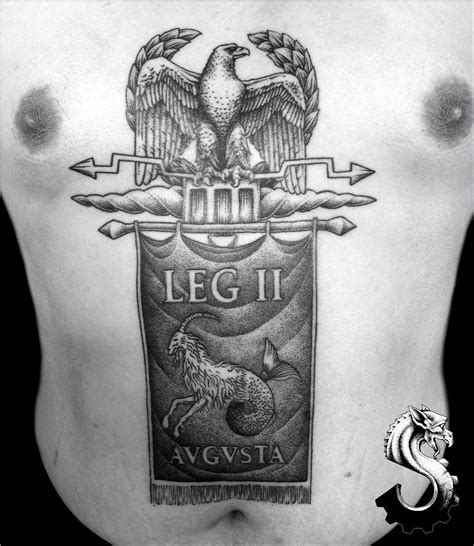 roman legion tattoo designs 2nd session finished on johnnystars88