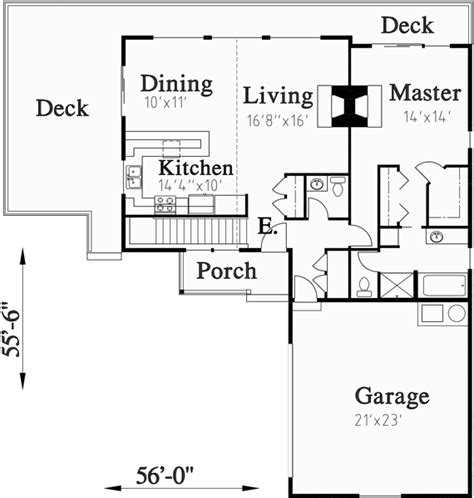 floor plans for sloped lots house plans with side garage sloping lot house plans
