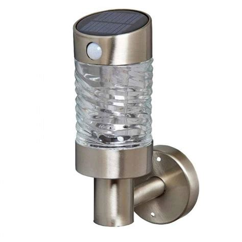 solar wall light welcome light with pir