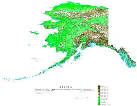 map alaska alaska contour map