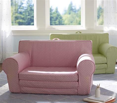 pottery barn kids sofa light pink mini dot fold out anywhere lounger pottery