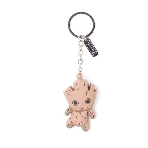 Keychain Groot 3 guardians of the galaxy baby groot 3d keyring the bloke cave