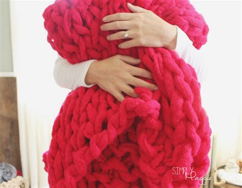 arm knit a blanket arm knit a blanket in 45 minutes simplymaggie