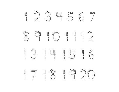 printing numbers 1 20 worksheets tracing numbers 1 20 worksheets number tracing 1 to 20
