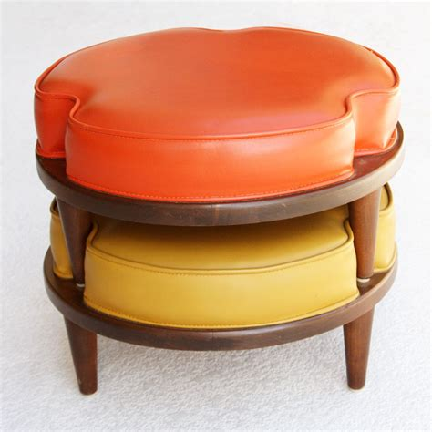 who were ottomans mid century danish modern stackable ottomans