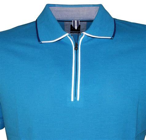 Polo Zipper hugo verona 07 blue half zipper polo shirt polo shirts from designerwear2u uk