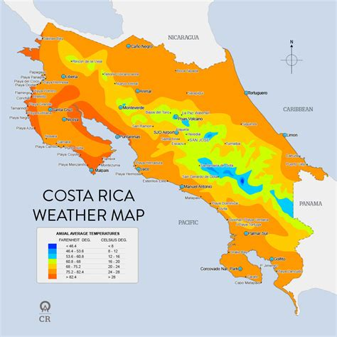 costa rica population map weather in costa rica ardent light