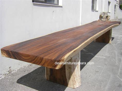 desain meja panjang meja kayu panjang