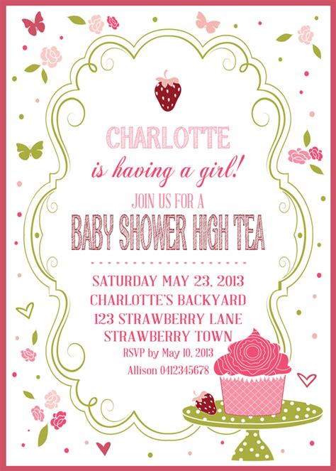 High Tea Baby Shower Invitation Templates by High Tea Baby Shower Invitations Xyz