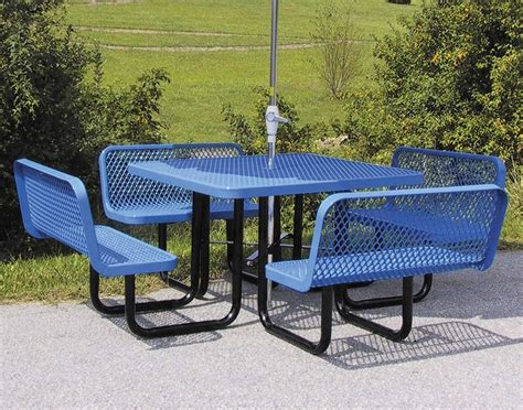 metal picnic benches ideas expanded metal outdoor furniture bistrodre porch