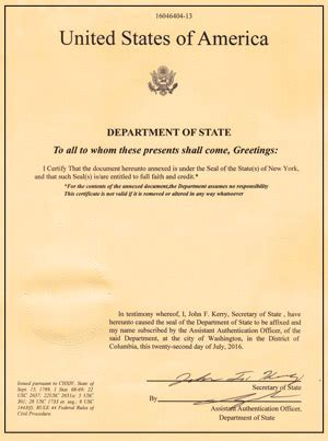 State Department Background Check Us Department Of State Apostille Certification Services