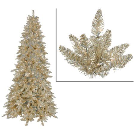 6 12 x 34 tinsel slim christmas tree with 400 clear lights 10 pre lit slim chagne spruce tinsel tree clear lights walmart