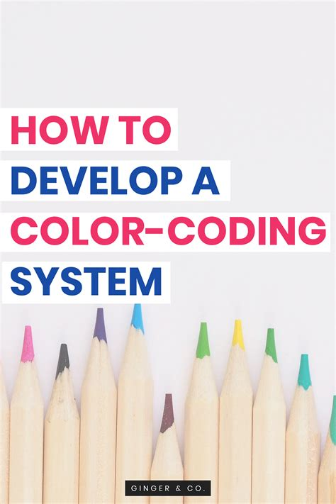 how to develop color how to develop a color coding system co