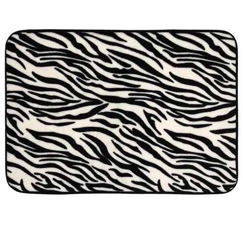 zebra bath rugs cloud 9 memory foam green brown zebra leopard animal print bath mat 17x24 ebay