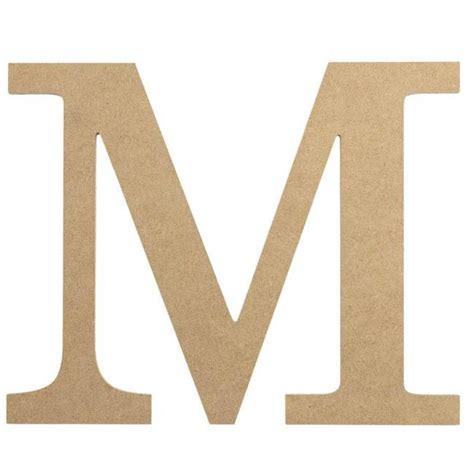 """10"""" Decorative Wood Letter: M [AB2037] - CraftOutlet.com M"""