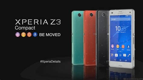 Hp Sony Ericson Xperia Z3 sony xperia z3 compact promo are live
