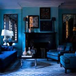 beautiful blue living room with blue color ideas