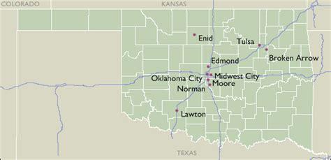 zip code map edmond ok city zip code maps of oklahoma
