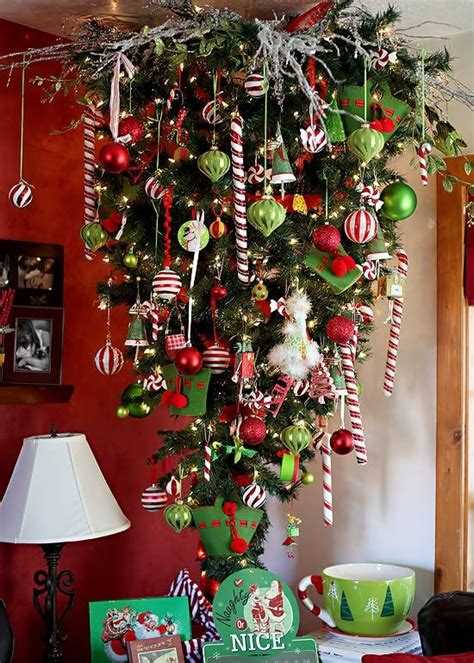beautiful upside  christmas tree ideas christmas