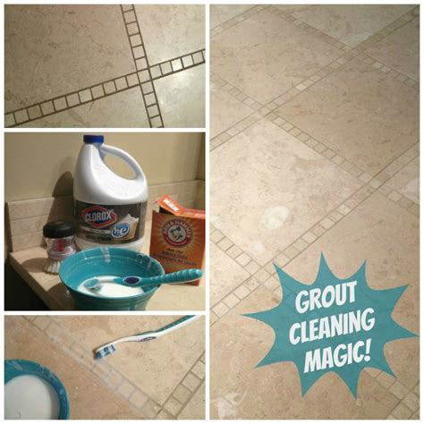 cleaning bathroom tiles with bleach 1 part bleach 3 parts baking soda make paste brush on