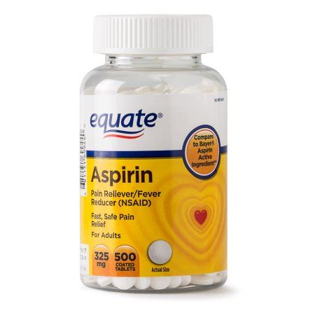 aspirin walmart equate relief aspirin coated tablets 325 mg 500 ct walmart