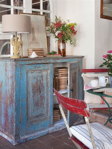 decoracion chalk paint muebles mueble decapado azul ideas decoracion