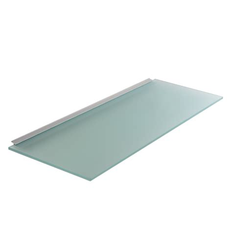 estantes de cristal estante de cristal con perfil posterior de aluminio thinline