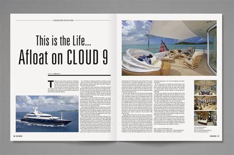 design inspiration page layout enzed yacht investor magazine publication pinterest