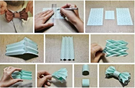 How To Make An Origami Bow Tie - how to make origami bow ties step by step diy tutorial
