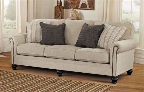 sofa ashley milari linen sofa the room loft