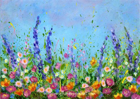 Flower Garden Painting More Splattered Paint Ideas And Tips My Flower Journal