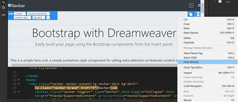 bootstrap tutorial with dreamweaver design responsive websites using bootstrap