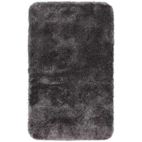 Mohawk Home Bath Rugs Mohawk Home Soft And Plush Grey 20 In X 32 In Bath Rug 326240 The Home Depot