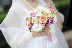 Hochzeit Knã Ble bukiet piękna panna młoda kwitnie mienie ślub obraz