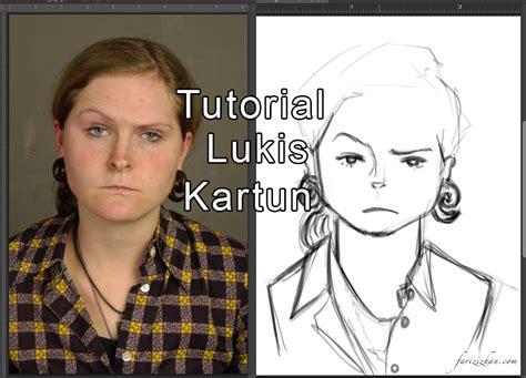 Anting Anting Petak tutorial lukis kartun dengan latihan 4 step fariz izhan