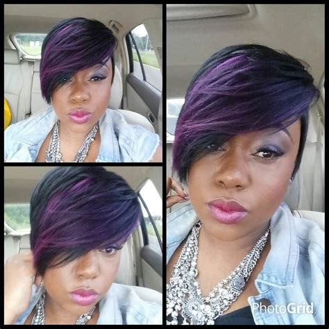 purple hair for black women 27 short pixie haircut designs ideas hairstyles