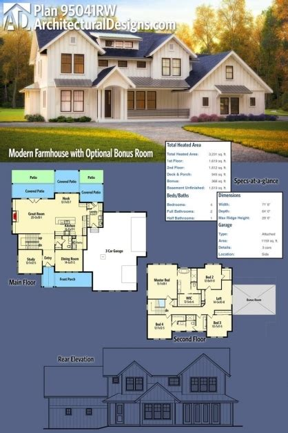 Advanced House Plans by Modern Farmhouse Plans Advanced House Plans