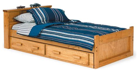 twin bed with storage underneath university loft graduate series twin xl bed natural finish