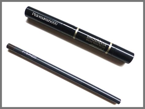Eyeliner Pensil Pixy Coklat smashbox brow tech to go vs mac eye brows pencil pixiemama