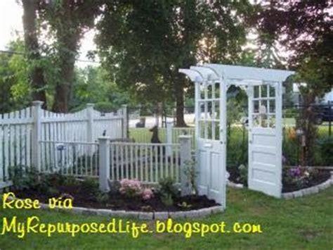 Garden Arbor Made From Doors Garden Arbor Made From Doors And Crib Parts My