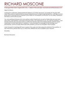 Dental Assistant Cover Letter Sles by Dental Assistant Cover Letter Exles For Healthcare