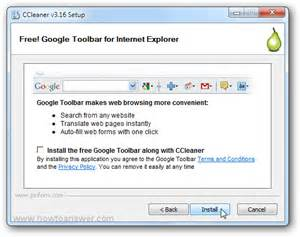 install explorer toolbar how to install ccleaner