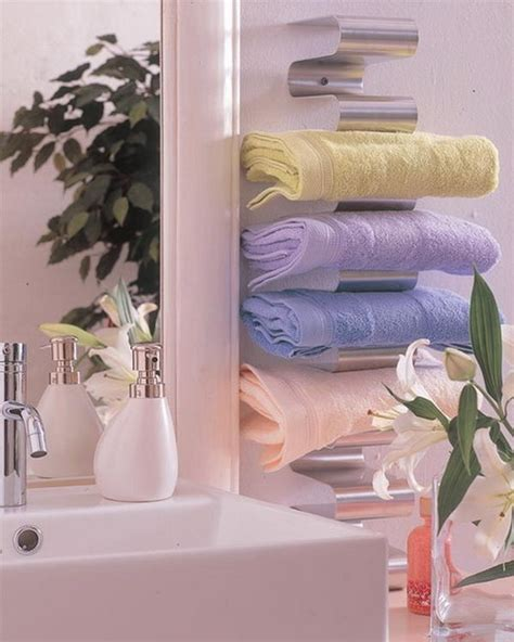 bathroom towel holder ideas towels storage 24 ideas to spruce up your bathroom