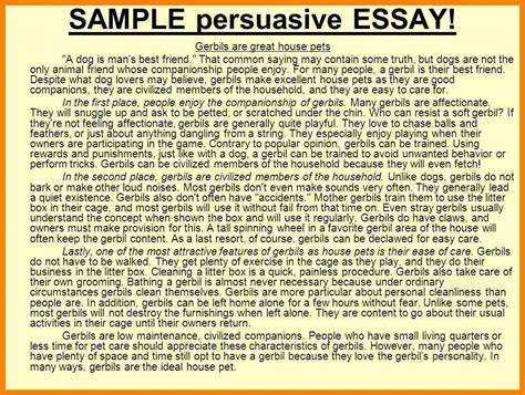 A House Essay by 8 Persuasive Essays Exles Address Exle