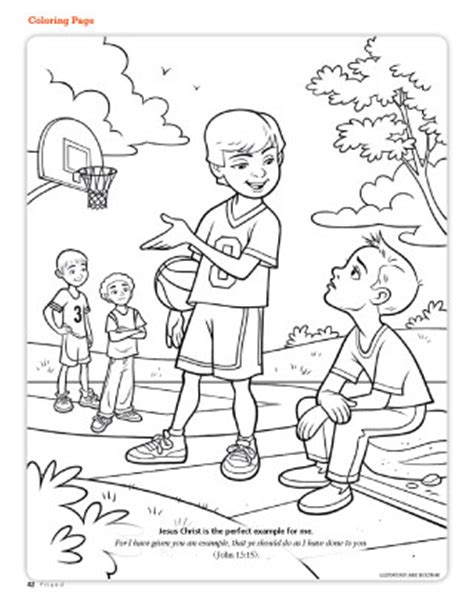 Lds Friend Coloring Pages tell others about jesus coloring page coloring pages